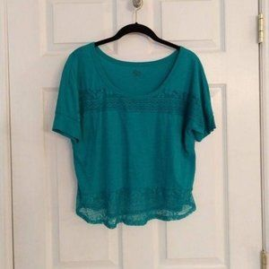 SO Lace Crop Top - Size Large